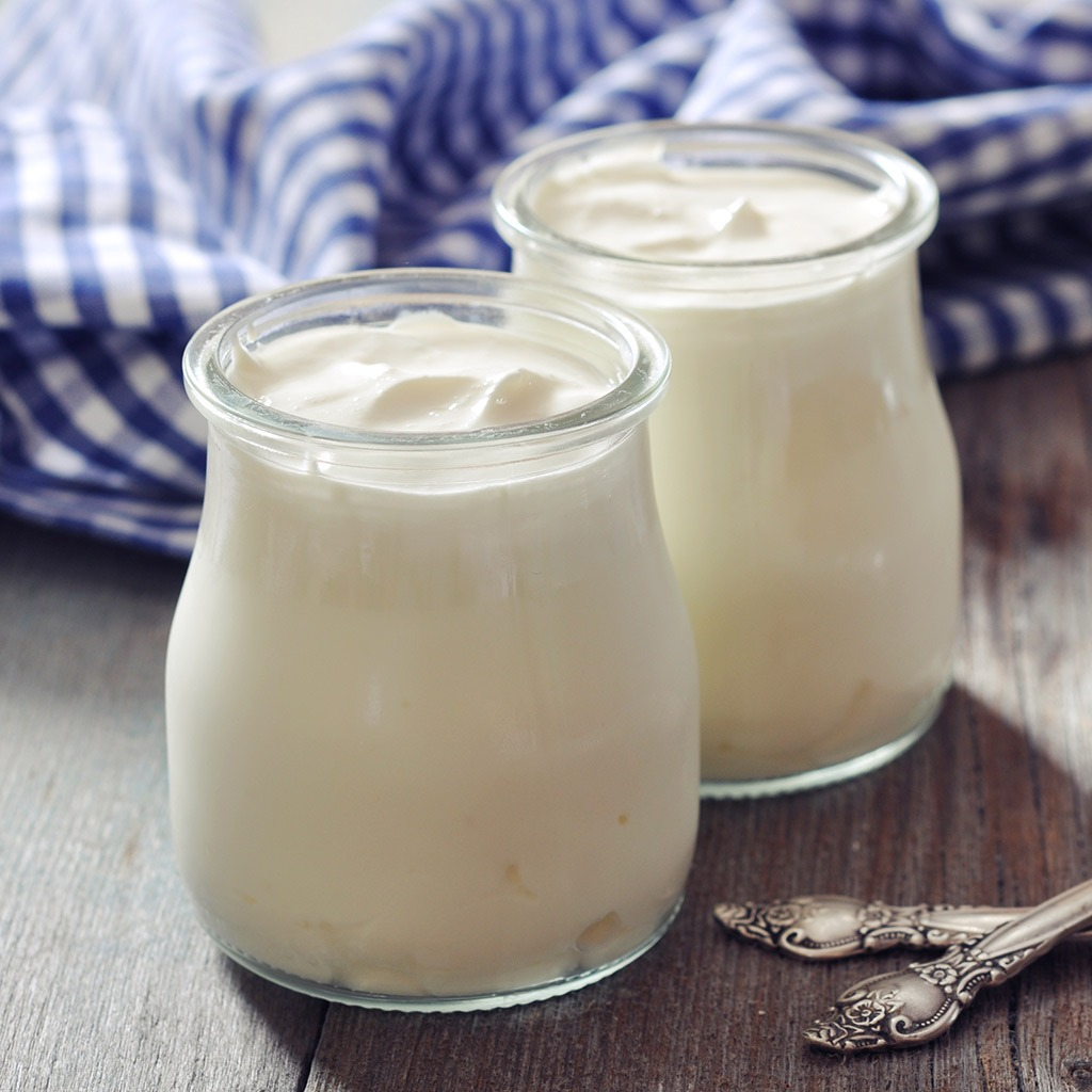 Low-fat dairy foods like flavoured Greek yoghurt or non-dairy creamers