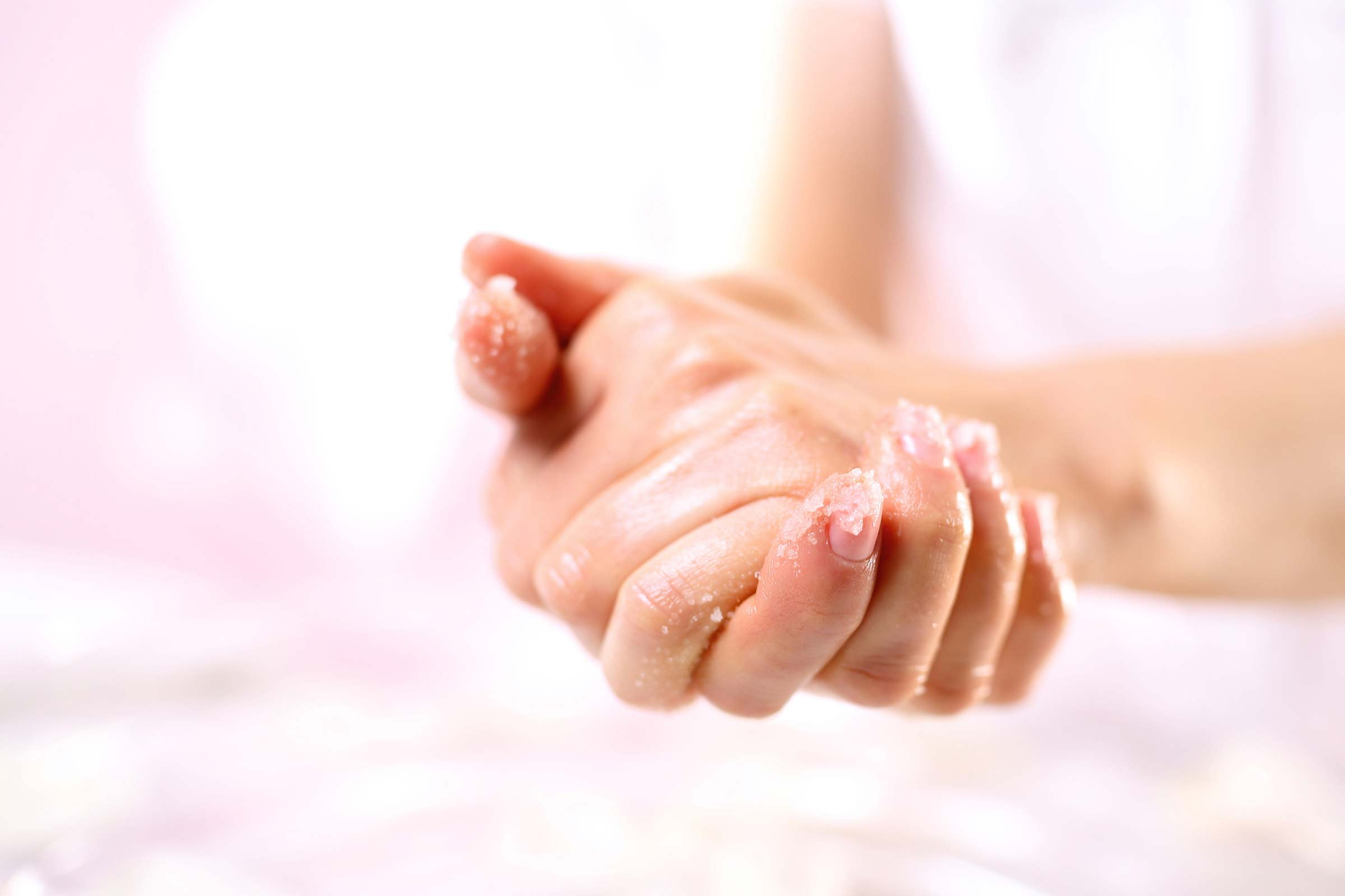 Exfoliate your hands