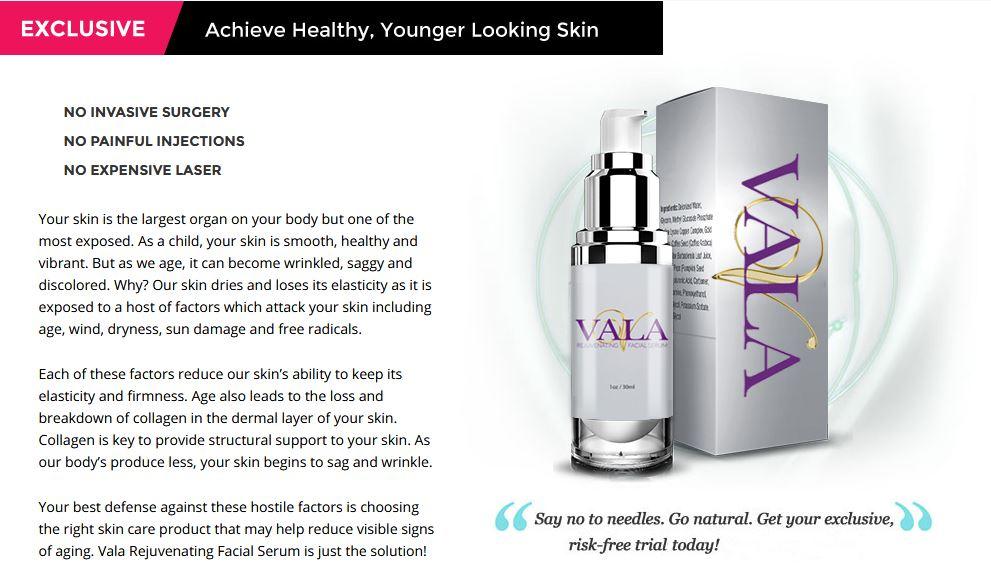 Vala Rejuvenating Facial Serum